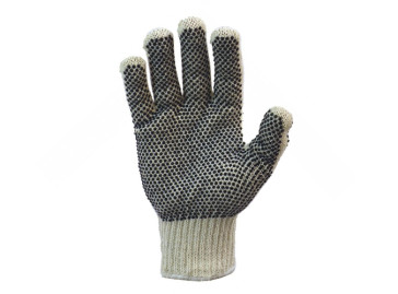 Cotton Gloves Coated On One Side With PVC Dots
